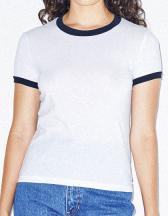 Women`s Poly-Cotton Ringer T-Shirt
